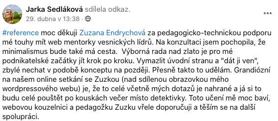 Reference Zuzi Endrych